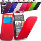 New PU Leather Flip Case Cover + Screen Protector  For- HTC One Mini M4