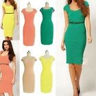 New Womens Ladies Sexy Midi Bodycon Tube Pencil Dress Skirt Evening Party Slim