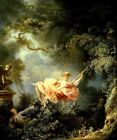 THE SWING MAN WOMAN IN LOVE ROMANTIC 1790 FRENCH PAINTING BY FRAGONARD REPRO