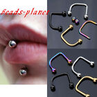 1x 16G Hot Cool Punk Stainless Steel lippy loop lip labret Ring Piercing Jewelry