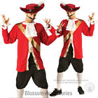 C984 Captain Hook Pirate Peter Pan Mens Fancy Dress Up Halloween Adult Costume