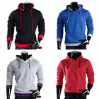 4 color Boys Pullover Sweatshirt Hooded Casual Sweater Top Hoodie Mens L-XXL