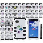 For LG Optimus F3 LS720 IMPACT HYBRID Rubber HARD Protector Case Cover + Pen