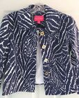 """New Lilly Pulitzer BEAUFORD JACKET 2 / 4 / 6 """"Bright Navy Show Your Stripes"""" NWT"""