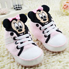 Baby Girls 3D Mickey Mouse pink Soft Sole shoe Crib Shoes Size 0-18Month/U4