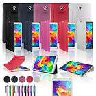 "For SAMSUNG GALAXY Tab S 8.4"" T700 T705 SMART BOOK CASE COVER +SCREEN PROTECTOR"