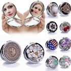 New Womens Hangbag Cosmetic Makeup Compact Round Pocket Mirror Foldable Handheld