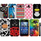 For Kyocera Hydro XTRM C6721 PATTERN HARD Protector Case Phone Cover + Pen