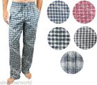 MENS COTTON BLEND WOVEN CHECK LOUNGE PANTS PYJAMA BOTTOMS PJ'S PYJAMAS NIGHTWEAR