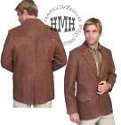 L501-60-ds Scully Western Cowboy Leather Brown Coat Jacket Blazer