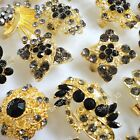 6pcs-20pcs wholesale jewelry Rhinestone gold plated Vintage Rings free shipping