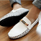 NEW CHIC Men's Comfy Leather Casual Slip On Loafer Shoes Moccasins Driving Shoes