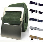 New Men Influx Of Casual Canvas Double-Sided Available GB01 Smooth Buckle Belts