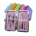 7pcs Manicure Set Nail Care Clippers Scissors Travel Grooming Kits Case