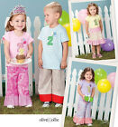 SEWING PATTERN Simplicity 1906 Childrens PANTS SKIRTS & BIRTHDAY PARTY SHIRTS