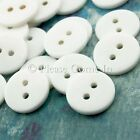 100 to 1000pcs 13mm 2-eye Craft Button White