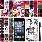 For Apple iPhone 5S 5 Image PATTERN HARD Case Back Phone Cover Accessory + Pen
