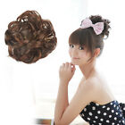 UK SCRUNCHIE PONY TAIL EXTENSION WRAP BUN HAIR PIECE CURLY BUN FASHION extention