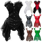 Sexy Womens Gothic Bustier Corset Top Skirt Christmas Party Costume Top Dress S4