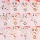 New 18K Gold Plated Crystal Women Wedding Necklace Earrings Set In 12 Styles