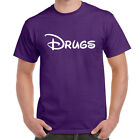 Mens Funny Sayings Slogans Novelty T Shirts-Drugs-Disney Style Smoke Weed tshirt