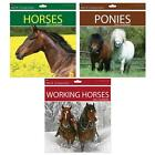 Square Design Work Horses Ponies 2015 Calendar Wall Planner Year Month to View