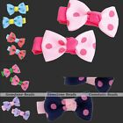 2x Cute Sweet Dot Bow Bowknot Children Hair Clip Hairbands For Student Girl Gift