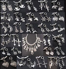 Tibet Silver Dangle Alloy Charms Beads Fit European Charms Bracelet MIX Jf368