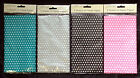 9 x Sheets Spotty Polka Dot Tissue Paper Gift Wrap Occasions Pink Black Silver