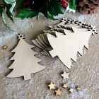 Wooden Hanging Christmas Tree Blank Decorations Craft Shape Gift Tags