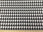 Discount Fabric Premier Prints LARGE Houndstooth Black and White 02PR
