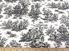 Discount Fabric Premier Prints Jamestown Colonial Toile Black PR11