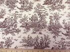 Discount Fabric Premier Prints Jamestown Colonial Toile Chocolate 12PR
