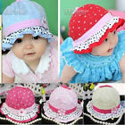 Infant fashion  baby Girls Toddler cotton summer Sun Hat Flower Polka Dot Caps