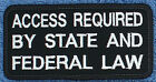 1 ACCESS REQUIRED BY STATE AND FEDERAL LAW service dog Danny & LuAnns Embroidery