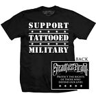 Men's Tattooed Military by Steadfast Support the Army Tattoo Art Black T-Shirt