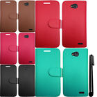 For LG Optimus L90 D405 D415 PU Wallet LEATHER POUCH Flip Case Phone Cover + Pen