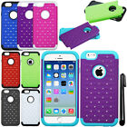 For Apple iPhone 6 4.7 inches Luxury GEM HYBRID Rubber HARD Case Cover + Pen