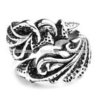 1x Punk Men's Stainless Steel Dragon Tiger Claw Harley Biker Ring Gift Size 8-13