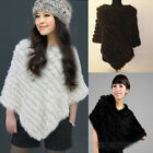 Suitable Lady Warm Top Farms Rabbit Fur Wrap Shawl Cape Poncho Scarf Chic