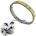 Women's Stainless Steel Magnetic Link Golf Bracelet Size 7.5""