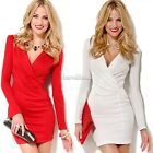 NEW women sexy V-Neck bodycon cocktail evening party Skirts ladies bandage dress