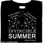 Albert Camus - Depths of Winter - Invincible Summer, quote, shirt, Sizes SM - 5X