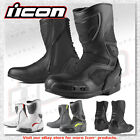 Icon Overlord CE Certified High Top Motorcycle Riding Boot With Toe Sliders