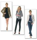 SEWING PATTERN McCall's M6294 Misses Lined WIDE COLLAR FASHION JACKETS