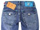 NEW TRUE RELIGION MEN'S PREMIUM DENIM JEANS RICKY SUPER T STRAIGHT LEG SIZE 34