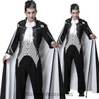 C761 Deluxe Royal Vampire Dracula Gothic Halloween Fancy Dress Costume + Cape