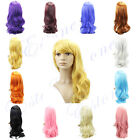 Sexy Fashion Long Heat Resistant Big Spiral Curly Long Cosplay Hair Full Wigs