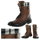 Bronx Line Up Mens Leather Lace-up Combat Boots Shoes