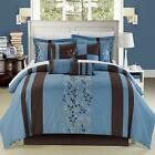 Roma  Blue 12 Piece Comforter Bed In A Bag Set With Sheet Set